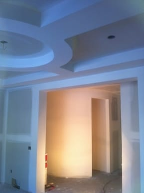 this is a drywall project i completed in spruce grove alberta. it has round walls with a nice round bulkhead in the dining room.